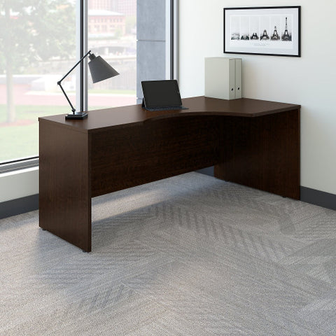 Bush Series C 72W x 24 to 36D Right Corner Desk Shell, Mocha Cherry WC12923 ; UPC: 042976129231 ; Image 2