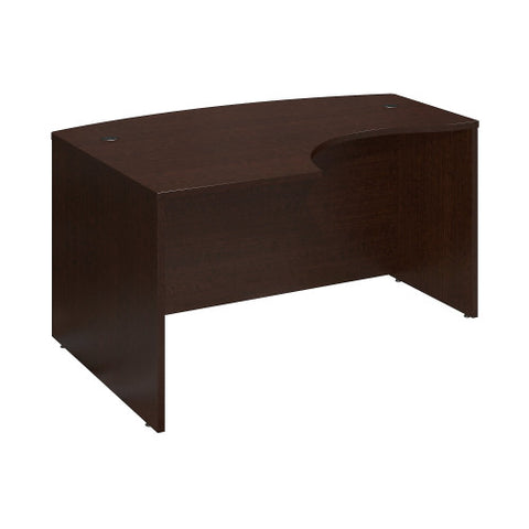 Bush Series C 60W x 43D Left Hand L-Bow Desk Shell, Mocha Cherry WC12933 ; UPC: 042976129330 ; Image 1