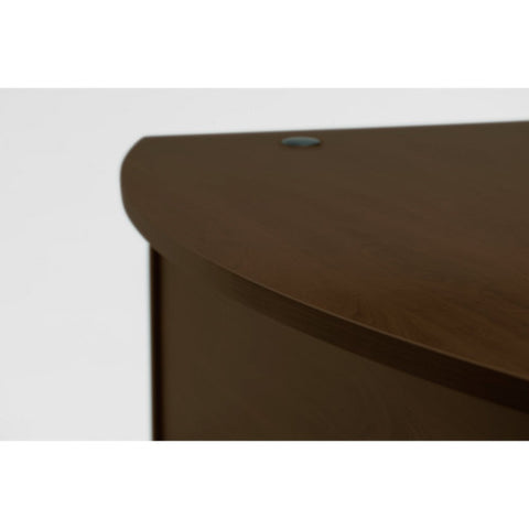Bush Series C 60W x 43D Left Hand L-Bow Desk Shell, Mocha Cherry WC12933 ; UPC: 042976129330 ; Image 3