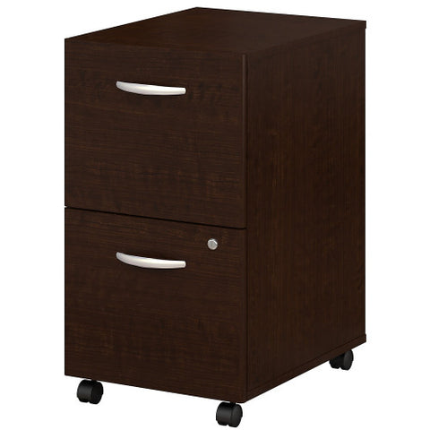 Bush Series C 2 Drawer Mobile Pedestal - Assembled, Mocha Cherry WC12952SU ; UPC: 042976259211 ; Image 1
