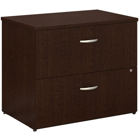 Bush Series C 36W 2 Drawer Lateral File, Mocha Cherry WC12954C ; UPC: 042976129545 ; Image 1