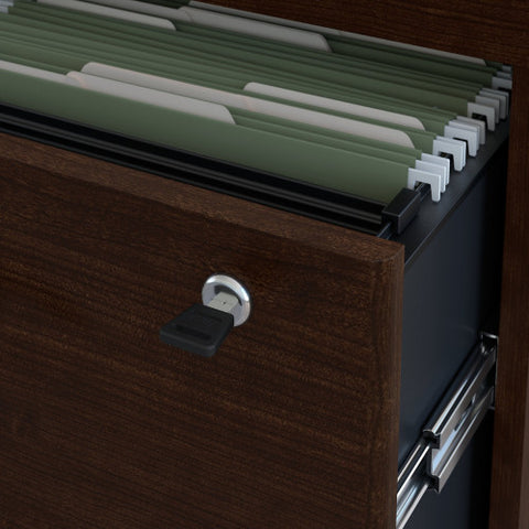 Bush Series C 36W 2 Drawer Lateral File, Mocha Cherry WC12954C ; UPC: 042976129545 ; Image 3