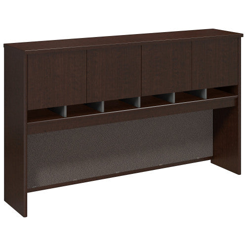 Bush Series C 72W 4 Door Hutch, Mocha Cherry WC12977K ; UPC: 042976129774 ; Image 1