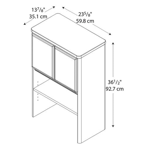 Bush Series A 24W Storage Hutch, Beech WC14325P ; UPC: 042976143251 ; Image 2