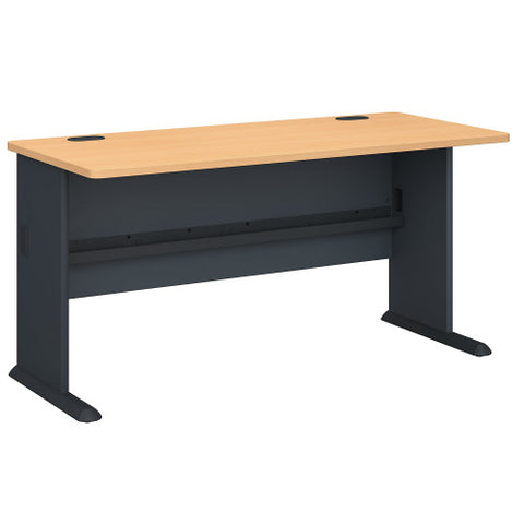 Bush Series A 60W Desk, Beech WC14360 ; UPC: 042976143602 ; Image 1