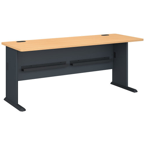 Bush Series A 72W Desk, Beech WC14372 ; UPC: 042976143725 ; Image 1