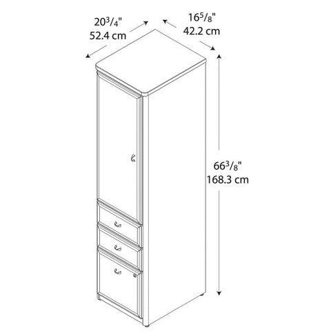 Bush Series A Vertical Locker, Beech WC14375P ; UPC: 042976143756 ; Image 4