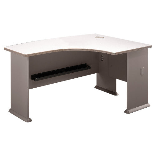 Bush Series A 60W x 44D Right Hand L-Bow Desk, Pewter WC14522 ; UPC: 042976145224 ; Image 1