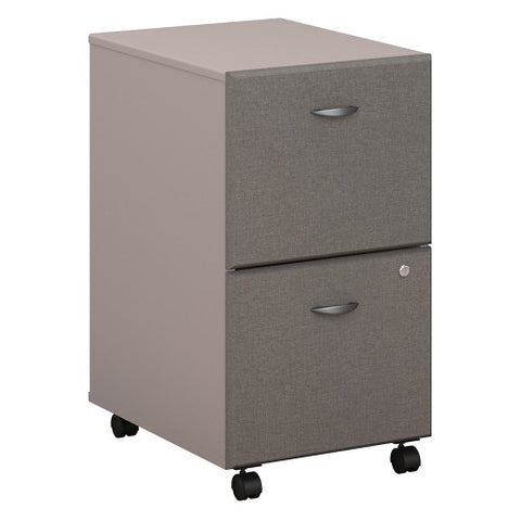 Bush Series A 2 Drawer Mobile Pedestal - Assembled, Pewter WC14552PSU ; UPC: 042976255411 ; Image 1