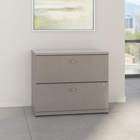 Bush Series A 36W 2-Drawer Lateral File - Assembled, Pewter WC14554PSU ; UPC: 042976455415 ; Image 2