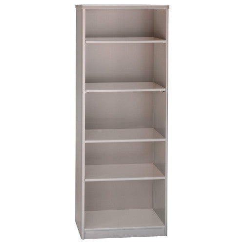 Bush Series A 26W 5-Shelf Bookcase, Pewter WC14565 ; UPC: 042976145651 ; Image 1