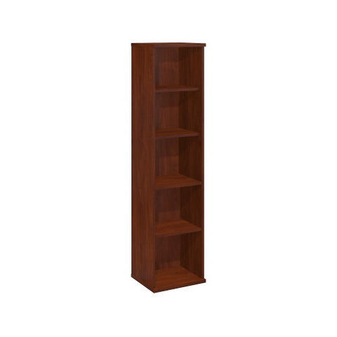 Bush Series C 18W 5 Shelf Bookcase, Hansen Cherry WC24412 ; UPC: 042976244125 ; Image 1