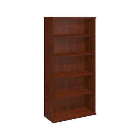 Bush Series C 36W 5 Shelf Bookcase, Hansen Cherry WC24414 ; UPC: 042976244149 ; Image 1