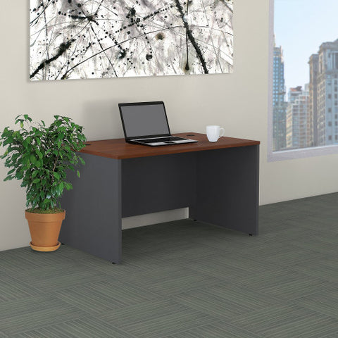 Bush Series C 48W Shell Desk, Hansen Cherry WC24448 ; UPC: 042976502652 ; Image 2