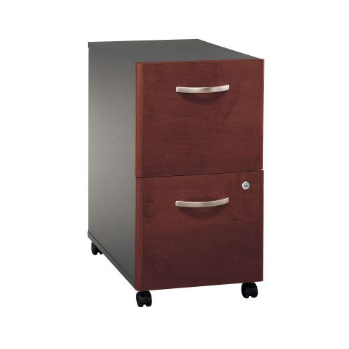 Bush Series C 2 Drawer Mobile Pedestal - Assembled, Hansen Cherry WC24452SU ; UPC: 042976254421 ; Image 1