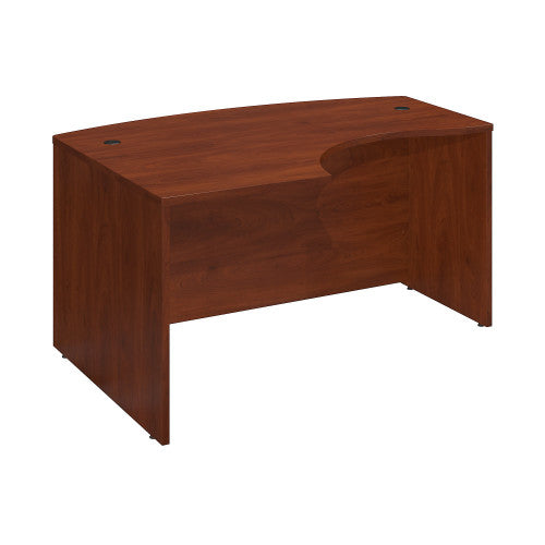 Bush Series C Elite 60W x 43D Left Hand L-Bow Desk Shell, Hansen Cherry WC24533 ; UPC: 042976499334 ; Image 1