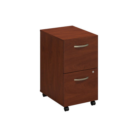 Bush Series C Elite 2 Drawer Mobile Pedestal - Assembled, Hansen Cherry WC24552SU ; UPC: 042976497149 ; Image 1