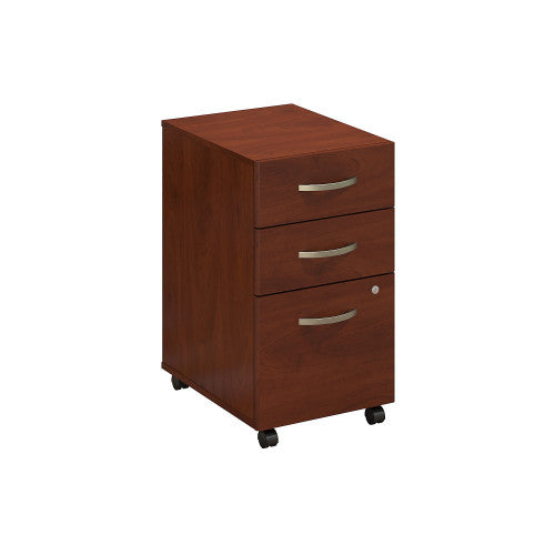Bush Series C Elite 3 Drawer Mobile Pedestal - Assembled, Hansen Cherry WC24553SU ; UPC: 042976497163 ; Image 1