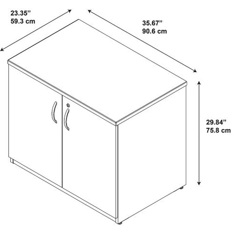 Bush Series C Elite 36W Storage Cabinet Assembled, Hansen Cherry WC24598SU ; UPC: 042976497262 ; Image 2