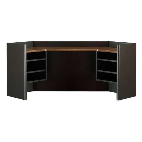 Bush Series A 42W Corner Hutch, Walnut WC25543 ; UPC: 042976255435 ; Image 1