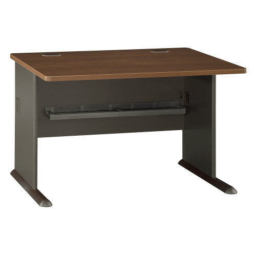 Bush Series A 48W Desk, Walnut WC25548 ; UPC: 042976255480 ; Image 1