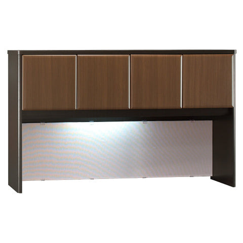Bush Series A 60W Hutch, Walnut WC25561P ; UPC: 042976255619 ; Image 1