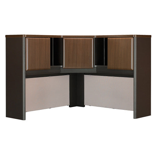 Bush Series A 48W Corner Hutch, Walnut WC25567PK ; UPC: 042976255671 ; Image 1