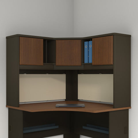 Bush Series A 48W Corner Hutch, Walnut WC25567PK ; UPC: 042976255671 ; Image 2