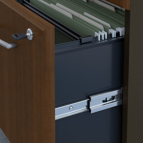 Bush Series A Vertical Locker, Walnut WC25575P ; UPC: 042976255756 ; Image 3