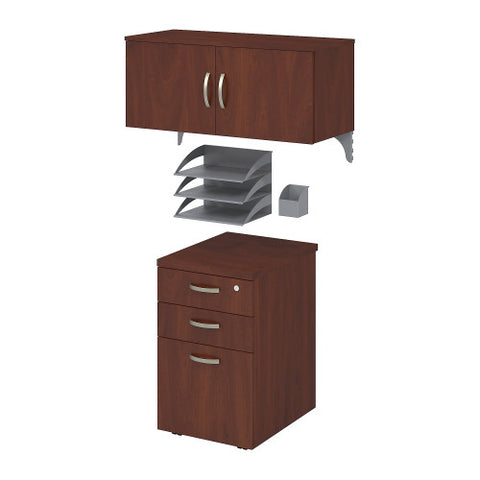 Bush Office in an Hour Storage and Accessory Kit, Hansen Cherry WC3649003K ; UPC: 042976031213