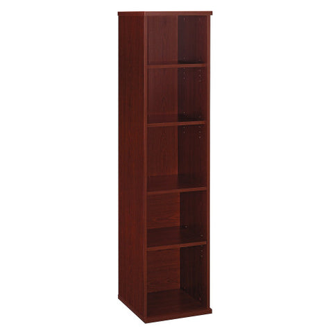 Bush Series C 18W 5-Shelf Bookcase, Mahogany WC36712 ; UPC: 042976367121 ; Image 1