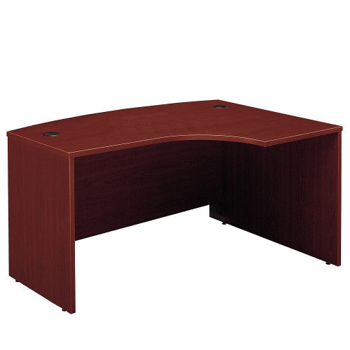 Bush Series C 60W x 43D Right Hand L-Bow Desk Shell, Mahogany WC36722 ; UPC: 042976367220 ; Image 1