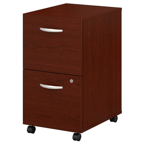 Bush Series C 2 Drawer Mobile Pedestal, Mahogany WC36752 ; UPC: 042976367527 ; Image 1