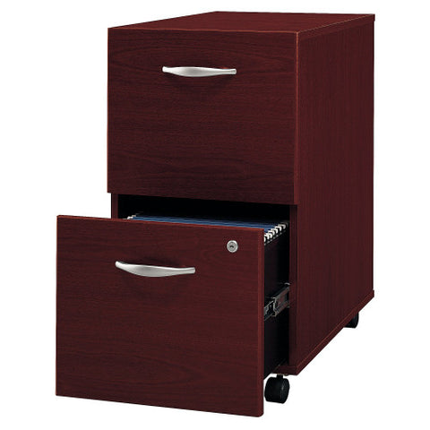 Bush Series C 2 Drawer Mobile Pedestal, Mahogany WC36752 ; UPC: 042976367527 ; Image 3