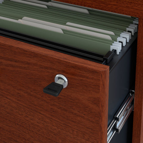 Bush Series C 36W 2 Drawer Lateral File - Assembled, Mahogany WC36754CSU ; UPC: 042976457631 ; Image 3