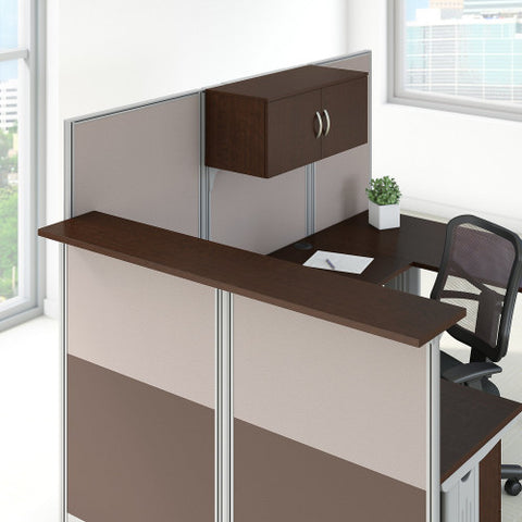 Bush Business Furniture Office in an Hour Reception Gallery Shelf in Mocha Cherry WC36891-03 ; Image 2