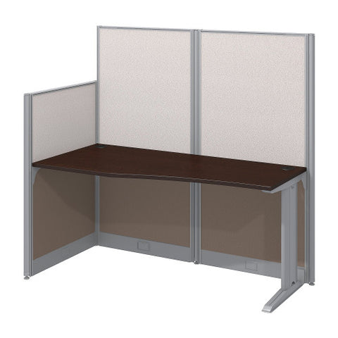 Bush Business Furniture Office in an Hour 65W x 33D Cubicle Workstation in Mocha Cherry (WC36892-03K) ; Image 1