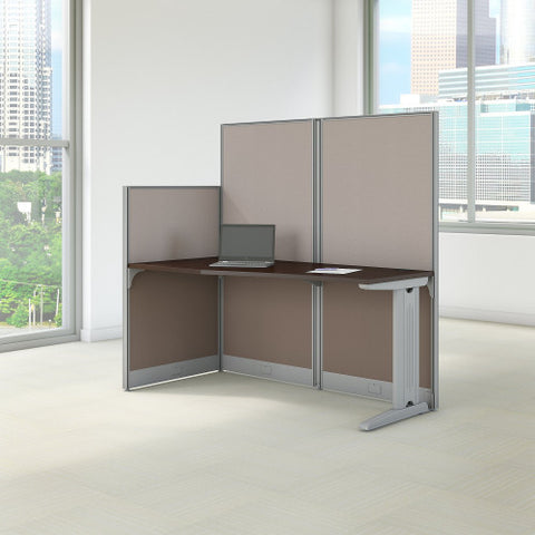 Bush Business Furniture Office in an Hour 65W x 33D Cubicle Workstation in Mocha Cherry (WC36892-03K) ; Image 2