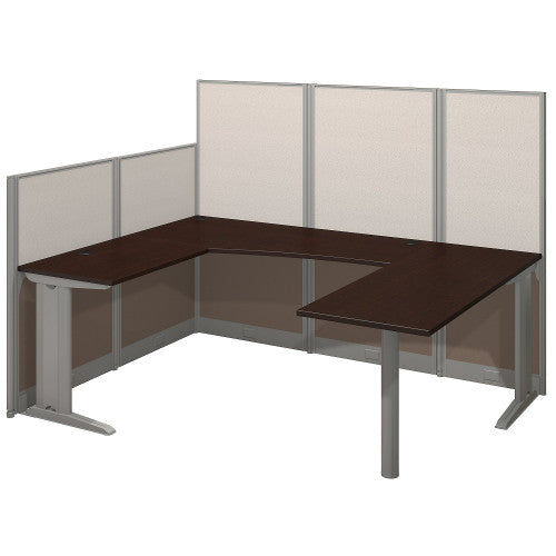 Bush Business Furniture Office in an Hour 89W x 65D U Shaped Cubicle Workstation WC36896-03K