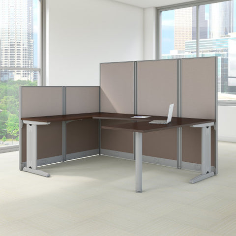 Bush Business Furniture Office in an Hour 89W x 65D U Shaped Cubicle Workstation WC36896-03K ; Image 2