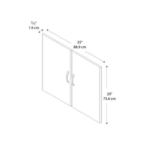 Bush Series C Half Height Door Kit, Auburn Maple WC48511 ; UPC: 042976485115 ; Image 2