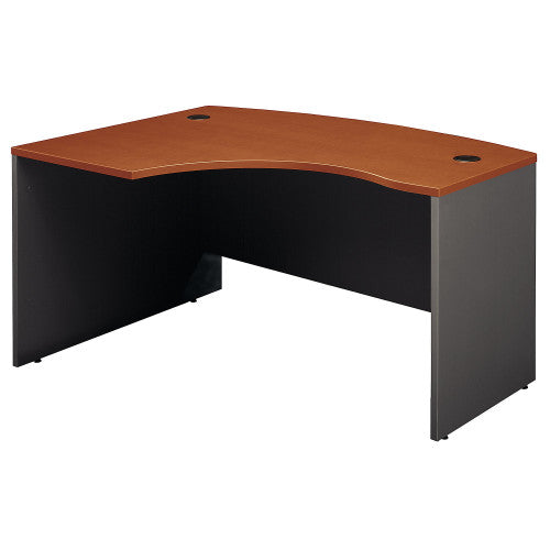 Bush Series C 60W x 43D Left Hand L-Bow Desk Shell, Auburn Maple WC48533 ; UPC: 042976485337 ; Image 1