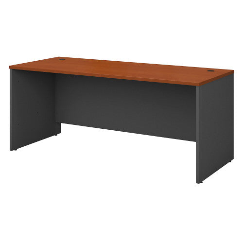 Bush Series C 72W Desk Shell, Auburn Maple WC48536 ; UPC: 042976485368 ; Image 1