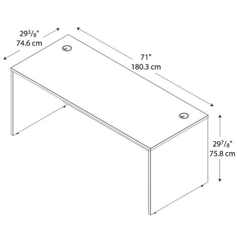 Bush Series C 72W Desk Shell, Auburn Maple WC48536 ; UPC: 042976485368 ; Image 4