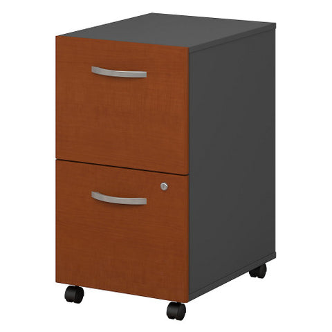 Bush Series C 2 Drawer Mobile Pedestal - Assembled, Auburn Maple WC48552SU ; UPC: 042976025588 ; Image 1