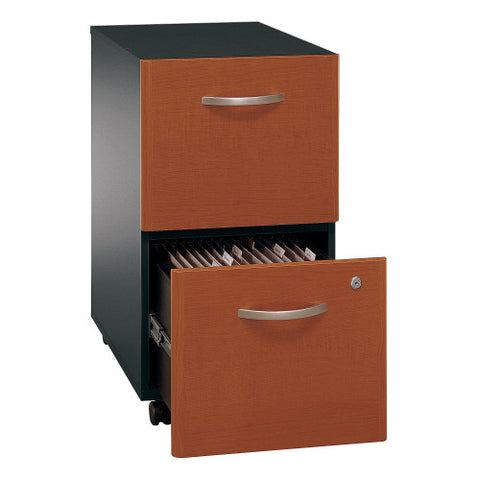 Bush Series C 2 Drawer Mobile Pedestal - Assembled, Auburn Maple WC48552SU ; UPC: 042976025588 ; Image 3