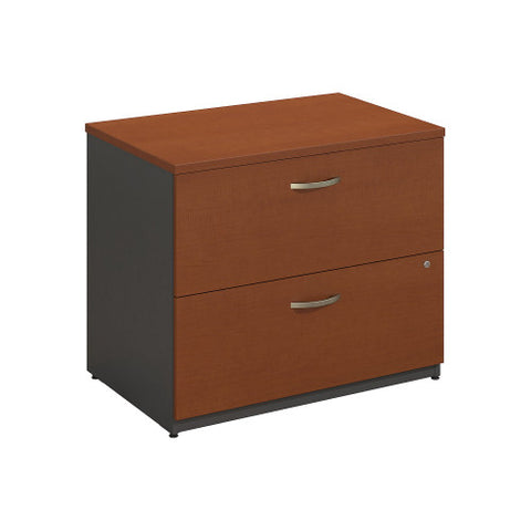Bush Series C 36W 2 Drawer Lateral File, Auburn Maple WC48554C ; UPC: 042976485542 ; Image 1