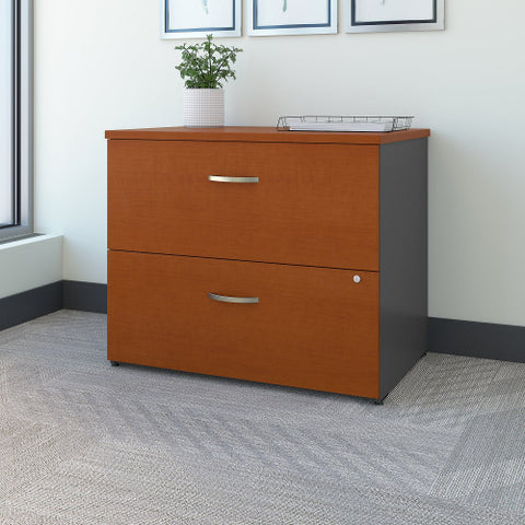 Bush Series C 36W 2 Drawer Lateral File, Auburn Maple WC48554C ; UPC: 042976485542 ; Image 2