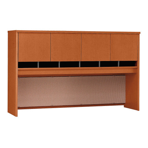 Bush Series C 72W 4 Door Hutch, Auburn Maple WC48577K ; UPC: 042976485771 ; Image 1