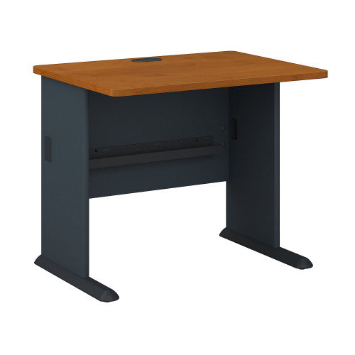 Bush Series A 36W Desk, Natural Cherry WC57436 ; UPC: 042976574369 ; Image 1